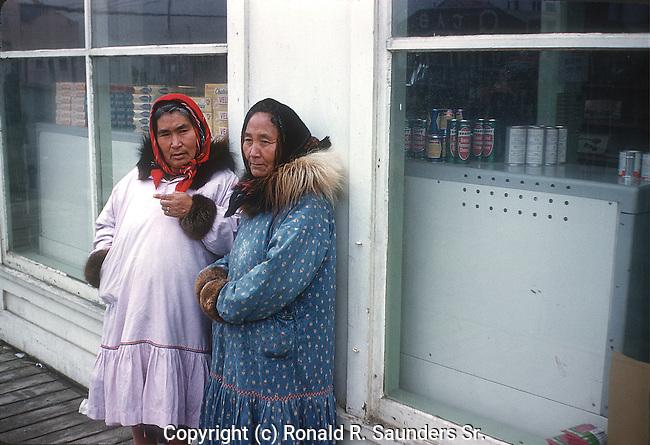 TWO ESKIMO WOMEN IN ALASKA