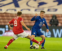 11th February 2021; Oakwell Stadium, Barnsley, Yorkshire, England; English FA Cup 5th round Football, Barnsley FC versus Chelsea; Billy Gilmour of Chelsea tackled by Herbie Kane of Barnsley