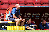 Wigan Athletic Manager, Paul Cook. looks on during Charlton Athletic vs Wigan Athletic, Sky Bet EFL Championship Football at The Valley on 18th July 2020