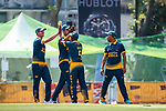 Players of South Africa celerbate during Day 1 of Hong Kong Cricket World Sixes 2017 Group A match between Marylebone Cricket Club vs South Africa at Kowloon Cricket Club on 28 October 2017, in Hong Kong, China. Photo by Vivek Prakash / Power Sport Images