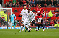 Pictured: Jonathan de Guzman.<br /> Sunday 12 May 2013<br /> Re: Barclay's Premier League, Manchester City FC v Swansea City FC at the Old Trafford Stadium, Manchester.