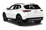 Car pictures of rear three quarter view of 2021 Buick Envision Essence 5 Door SUV Angular Rear