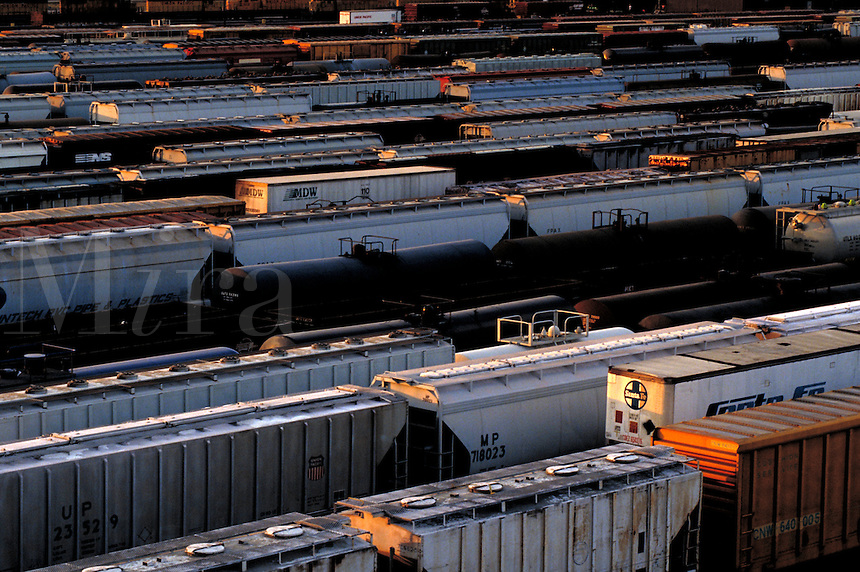 Variety of Rail Cars in Houston Belt and Terminal Rail Yard. Houston Texas USA Houston Belt and Terminal.