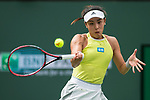 March 13, 2018: Qiang Wang (CHN) defeated by Simona Halep (ROU) 7-5, 6-1 at the BNP Paribas Open played at the Indian Wells Tennis Garden in Indian Wells, California. ©Mal Taam/TennisClix/CSM