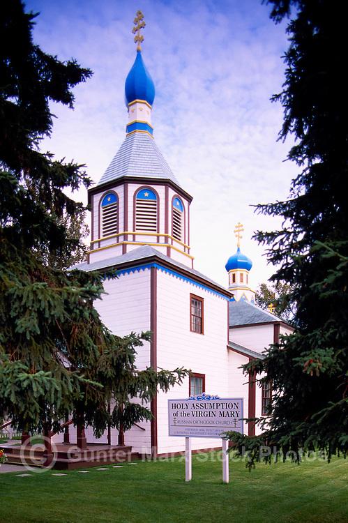 Kenai, Kenai Peninsula Borough, Alaska, USA - Holy Assumption of the Virgin Mary Russian Orthodox Church (aka Church of the Assumption of the Virgin Mary), a US National Historic Landmark