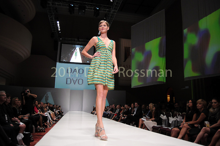 A model wears Chloe Dao at the third night of Fashion Houston at the Wortham Theater Wednesday Oct. 12,2011.(Dave Rossman/For the Chronicle)