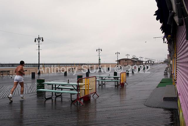 Brooklyn, New York<br /> April 25, 2010<br /> <br /> A rainy day on Coney Island beach.