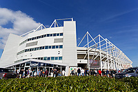 Exterior view of the stadium during the Sky Bet Championship match between Swansea City and Queens Park Rangers at the Liberty Stadium, Swansea, Wales, UK. Saturday 29 September 2018