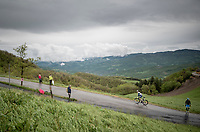 Quinten Hermans (BEL/Intermarché-Wanty Gobert) up the Colle Passerino (3km from the finish)<br /> <br /> 104th Giro d'Italia 2021 (2.UWT)<br /> Stage 4 from Piacenza to Sestola (187km)<br /> <br /> ©kramon