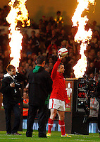 Photo: Richard Lane/Richard Lane Photography. Wales v Australia. Autumn International. 03/12/2011. Wales' Shane Williams walks out for his last game for his country.