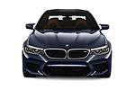 Car photography straight front view of a 2018 BMW M5 Base 4 Door Sedan