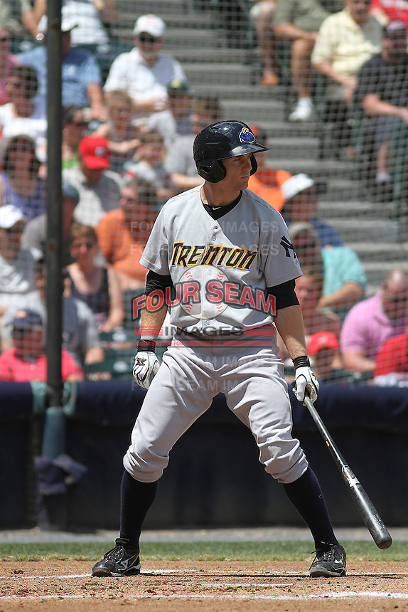 Trenton Thunder designated hitter David Adams #35 at bat during a game against the Richmond Flying Squirrels at The Diamond on May 27, 2012 in Richmond, Virginia. Richmond defeated Trenton by the score of 5-2. (Robert Gurganus/Four Seam Images)