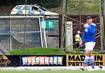 St Johnstone v Hibs……23.08.20   McDiarmid Park  SPFL<br />Police Scotland officers keeping an eye on McDiarmid Park<br />Picture by Graeme Hart.<br />Copyright Perthshire Picture Agency<br />Tel: 01738 623350  Mobile: 07990 594431