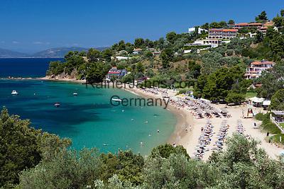 Greece, Thessaly, Northern Sporades, Island Skiathos, Troullos: Troullos beach   Griechenland, Thessalien, Noerdliche Sporaden, Insel Skiathos, Troullos: Troullos beach
