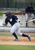 March 25, 2010:  Abraham Almonte of the New York Yankees organization during a Spring Training game at the Carpenter Complex in Clearwater, FL.  Photo By Mike Janes/Four Seam Images