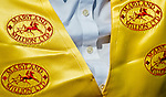 LAUREL, MARYLAND - OCTOBER 22: A customer service representative sports Maryland Million logo'ed apparel on Maryland Million Day at Laurel Park on October 22, 2016 in Laurel, Maryland. (Photo by Scott Serio/Eclipse Sportswire/Getty Images)