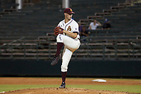 Arizona State Sun Devils pitcher RJ Dabovich (11) during a game at Phoenix Municipal Stadium on October 4, 2019 in Phoenix, Arizona.  (Freek Bouw/Four Seam Images)