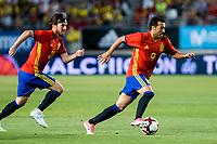 David Jimenez Silva and Pedro Rodriguez of Spain during the friendly match between Spain and Colombia at Nueva Condomina Stadium in Murcia, jun 07, 2017. Spain. (ALTERPHOTOS/Rodrigo Jimenez) (NortePhoto.com) (NortePhoto.com)