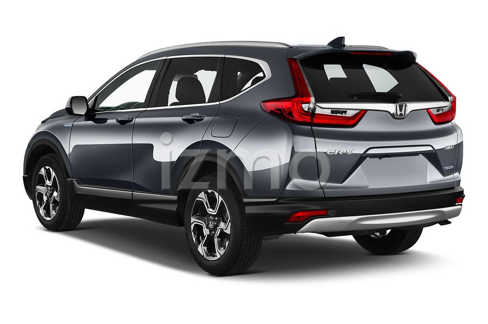 Car pictures of rear three quarter view of 2020 Honda CR-V-Hybrid Executive-4wd 5 Door SUV Angular Rear