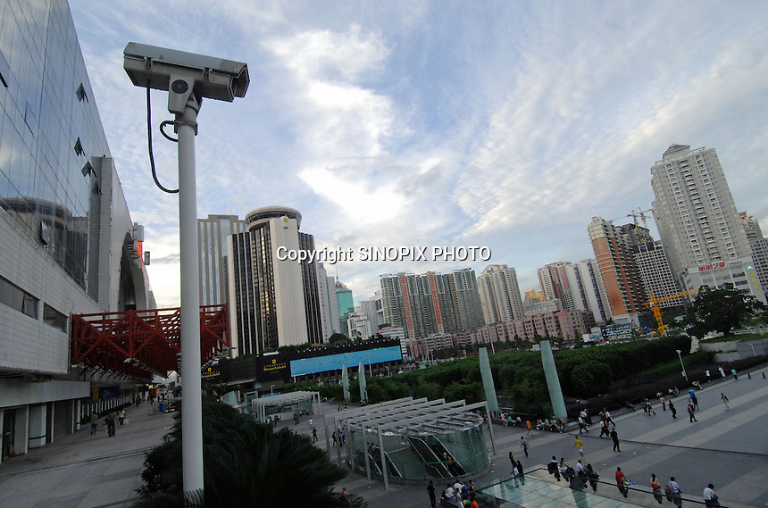 China's southern city of  Shenzhen.  shenzhen is the tsting gound for an new all encompassing surveillance system known as Golden Shield.<br />