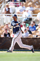 March 11,2009: Alcides Escobar (21) of the Milwaukee Brewers at Camelback Ranch in Glendale, AZ.  Photo by: Chris Proctor/Four Seam Images