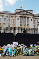 APR 11 Flowers at Buckingham Palace for Prince Philip's death