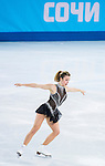 Ashley Wagner of USA compete in the Figure Skating Team Ice Dance Short Program during the 2014 Sochi Olympic Winter Games at Iceberg Skating Palace on February 8, 2014 in Sochi, Russia. Photo by Victor Fraile / Power Sport Images