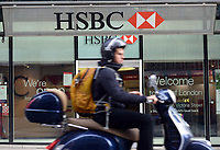The HSBC in London.  The HSBC and other money lenders anticipate a surge in lending as the Government helps first time buyers get on the mortgage ladder. 14-Oct-2013