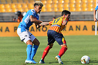 Diego Farias of Lecce vies for the ball with Kevin Malcuit of Napoli <br /> Lecce 22-09-2019 Stadio Via del Mare <br /> Football Serie A 2019/2020 <br /> US Lecce - SSC Napoli <br /> Photo Carmelo Imbesi / Insidefoto