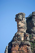 Mato Grosso, Brazil. Near  Canarana, Cacique (chief) rock formation, also known as The Guardian, in the Serra do Roncador.