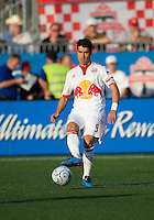 24 June2009: New York Red Bulls forward Juan Pablo Angel # 9 in action at BMO Field in Toronto, in a game between the New York Red Bulls and Toronto FC. Toronto FC won 2-0..