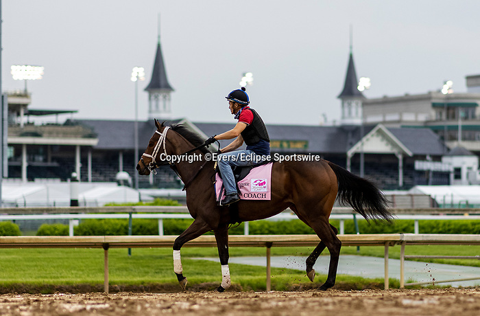 April 29, 2021: Coach gallops in preparation for the Kentucky Oaks at Churchill Downs in Louisville, Kentucky on April 29, 2021. EversEclipse Sportswire/CSM