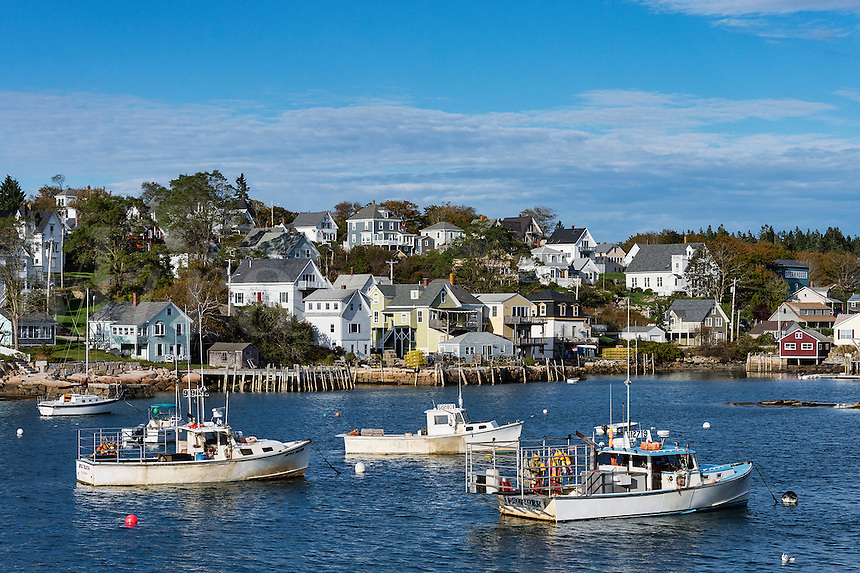 Quaint fishing village, Stonington, Deer Isle, Maine, USA.