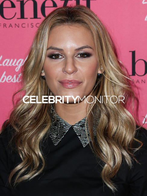 HOLLYWOOD, LOS ANGELES, CA, USA - SEPTEMBER 26: Morgan Stewart arrives at the Benefit Cosmetics: Wing Woman Weekend Kick-Off Party held at the Benefit Tattoo Parlor on September 26, 2014 in Hollywood, Los Angeles, California, United States. (Photo by Xavier Collin/Celebrity Monitor)
