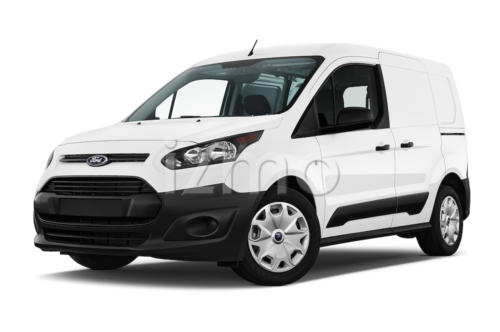 Stock pictures of low aggressive front three quarter view of 2018 Ford Transit-Connect Van-XL-SWB-(Rear-Liftgate) 5 Door Mini MPV Low Aggressive