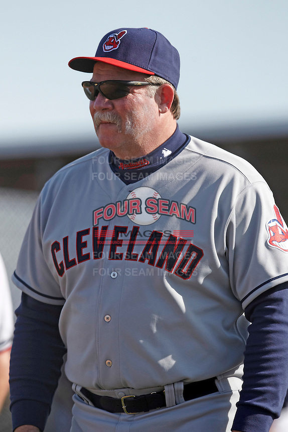 Former major league pitcher Len Barker at the Cleveland Indians Fantasy Camp at Goodyear Training Complex on January 18, 2012 in Goodyear, Arizona.  (Mike Janes/Four Seam Images)