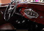 1930 Stutz MB LeBaron Convertible Coupe, Interior detail, Pebble Beach Concours d'Elegance