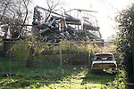 Buncefield Oil Depot Blast Disater happened on December 11, 2005. Pictured here one of the totally destroyed homes one year on. Hemel Hempstead, UK. December 6, 2006..Copyright Photo: Helen Atkinson +44 7976 265253