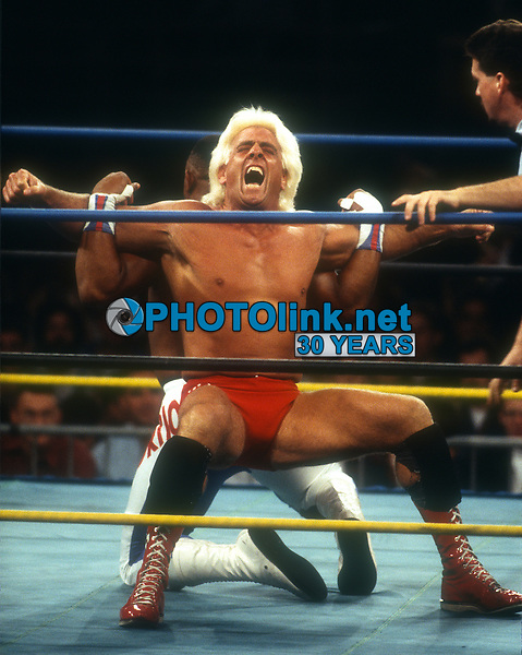 Wrestler Ric Flair, 1987, Photo By John Barrett/PHOTOlink