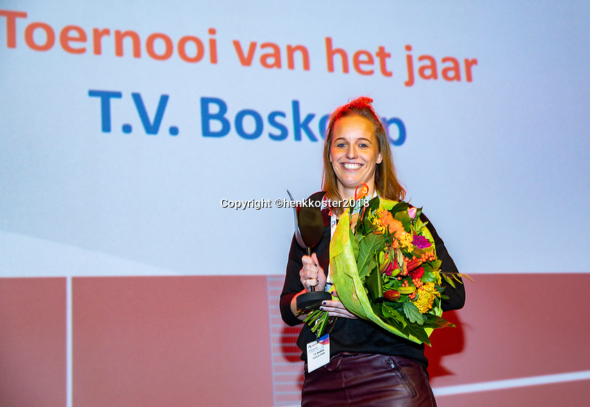 Nieuwegein,  Netherlands, 24 November 2018, KNLTB Year congress KNLTB, Tournament off the year : T.V. Boskoop<br /> Photo: Tennisimages.com/Henk Koster