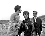 The Beatles 1967 Paul McCartney while filming Magical Mystery Tour with his driver and journalist Miranda Ward.© Chris Walter.