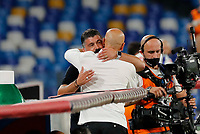 Gennaro Gattuso coach of Napoli  and Stefano Pioli coach of Milan  before the  italian serie a soccer match,  SSC Napoli - AC Milan       at  the San  Paolo   stadium in Naples  Italy , July 12, 2020