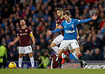 Andy Halliday's expression as Igor Rossi tries to challenge for the ball
