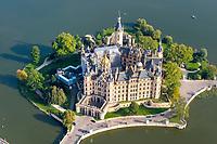 Schweriner Schloss: DEUTSCHLAND, MECKLENBURG-VORPOMMERN, SCHWERIN, (GERMANY, MECKLENBURG POMERANIA), 08.09.2011: Das Schweriner Schloss