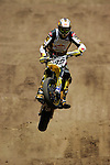 Travis Pastrana (199) competes in the Moto X SuperMoto race during X-Games 12 in Los Angeles, California on August 4, 2006.