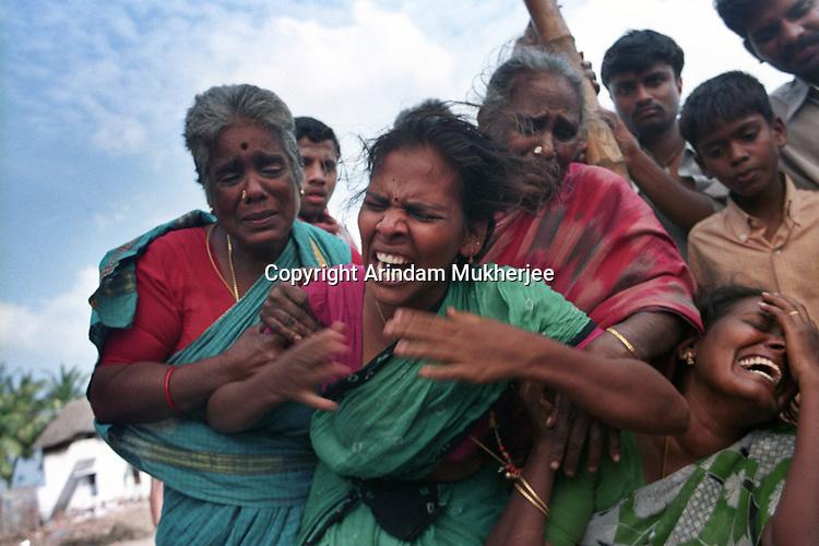 An Inconsolable mother.Velankanni,Nagapattinam.India.