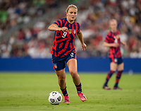 AUSTIN, TX - JUNE 16: Lindsey Horan #9 of the USWNT dribbles the ball during a game between Nigeria and USWNT at Q2 Stadium on June 16, 2021 in Austin, Texas.