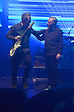 MIAMI BEACH, FLORIDA - JANUARY 18: Phil Cunningham and Bernard Sumner of New Order perform on stage at the Fillmore Miami Beach at the Jackie Gleason Theater on January 18, 2020 in Miami Beach, Florida.  ( Photo by Johnny Louis / jlnphotography.com )