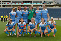 Bridgeview, IL - Saturday June 17, 2017: Chicago Red Stars Starting XI during a regular season National Women's Soccer League (NWSL) match between the Chicago Red Stars and the Washington Spirit at Toyota Park. The match ended in a 1-1 tie.