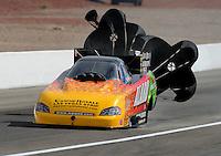 Apr. 2, 2011; Las Vegas, NV, USA: NHRA funny car driver Bob Bode during qualifying for the Summitracing.com Nationals at The Strip in Las Vegas. Mandatory Credit: Mark J. Rebilas-